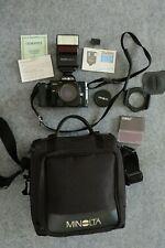 Minolta 7000 AF SLR 35mm Camera with 50mm f1.7 and flash