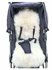 Sheepskin Baby Buggy Liner Stroller Pushchair Pram Lamb Skin 100% Natural