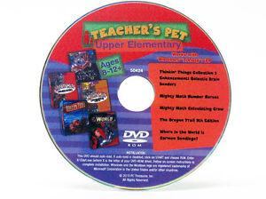 Teacher's Pet Upper Elementary Window 10 PC DVD Oregon Trail 5th Carmen SanDiego