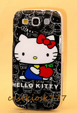 for Samsung galaxy S3 cute hello kitty cell phone case black & white i9300 S III