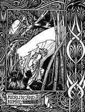 Aubrey Beardsley Merlin And Nimue A4 Print