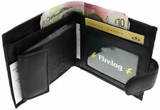 MENS SOFT QUALITY REAL LEATHER MONEY WALLET CREDIT CARD HOLDER PURSE BLACK 64