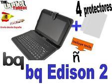 FUNDA TECLADO TABLET Bq EDISON 2 + 4 protectores de pantalla