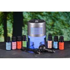 7 x 10ml Themed Synergy Essential Oils, Air Diffuser, Moods,Zephair,Breezer