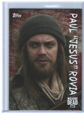 Topps Walking Dead Season 6 Paul Jesus Rovia Blood Parallel True # 1/1 C-19