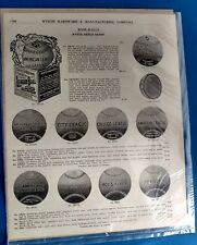 Antique Baseball glove American league Wyeth Shield Price list advertising