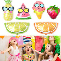 Fashion Fruit Foil Balloon Kids Inflatable Toy Summer Party Supplies Decor