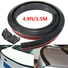 Universal Carbon Fiber Look Auto Car Rear Roof Trunk Spoiler Wing Lip 4.9ft/1.5M