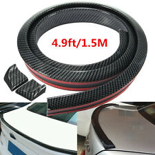 Universal Carbon Fiber Look Auto Car Rear Roof Trunk Spoiler Wing Lip 4.9ft/1.5M