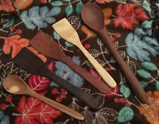 Lot 5 Weyer Works Hand Crafted Wooden Spoons Spatulas Solid Wood Walnut Cherry