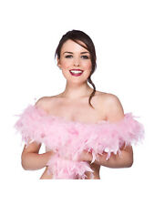 60gsm/1.8m Baby Pink Feather Boa Fancy Dress Adult 1920's & Fashion Accessory