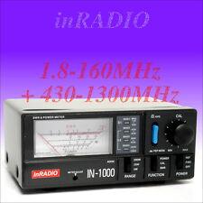 INRADIO IN-1000 - SWR & POWER METER HF VHF 1.8-160 + 430-1300 MHz - IN1000