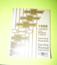 1988 Chevy Monte Carlo Electrical Diagnosis Manual Wiring Diagram Chevrolet Book