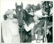 1970's John Canty Thoroughbred Trainer with Don Juan Original Press Photo