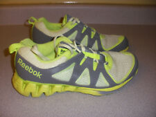 Men's REEBOK Zigtech Running Shoes Size 8.5 YELLOW GRAY