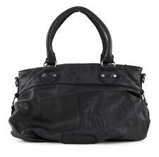 FREDsBRUDER Velvet Reunion Tasche Handtasche Umhängetasche Schwarz Black Leder