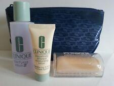 CLINIQUE SKIN CARE SET - MOISTURIZER / CLARIFYING LOTION / SOAP & BAG