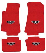 NEW! FLOOR MATS 2005-2006 PONTIAC GTO CREST Embroidered Logo Carpet on All 4