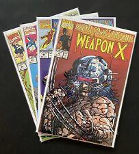 Weapon X Wolverine Comic Bundle X4 Marvel Comics