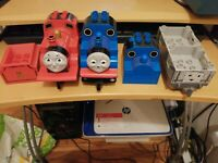 Duplo Thomas the tank engine and James and troublesome truck plus spares worn