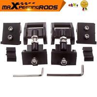 Pair Aluminum Hood Lock Latch Catch Engine Cover Lock For Jeep Wrangler JK 07-18