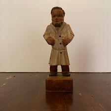 Old Vintage Hand Carved German Wood Doctor Figure
