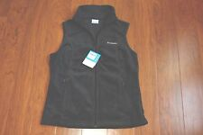 New Columbia JACKET Woman Size M Grey Sleeveless Fleece Vest Front Zip $45