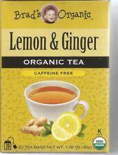 Brad's Organic Lemon & Ginger Tea 20 Bag