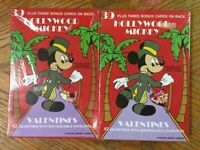 Vintage Lot of 2 Boxes HOLLYWOOD MICKEY Disney Valentines * Minnie Mouse Cards