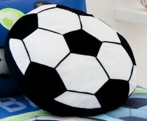 Football Shaped Filled Cushion Childrens Soft Fun Novelty Scatter Plush Pillow