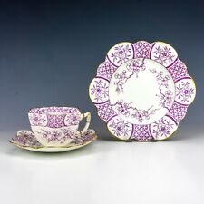 Foley Wileman China - Aesthetic Movement Japanese Inspired Cup, Saucer & Plate