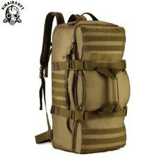 60l Military Tactical Backpack Rucksack Army MOLLE Shoulder Bag Travel Hiking AU