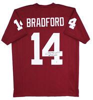 "Oklahoma Sam Bradford ""08 Heisman"" Signed Maroon Jersey Signed on #4 BAS Witness"