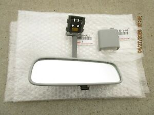 FITS: 88 - 90 TOYOTA LAND CRUISER FJ62 BJ62 REAR VIEW MIRROR GRAY OEM BRAND NEW