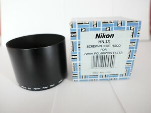NIKON HN-13 86MM SCREW IN METAL LENS HOOD FOR 72mm POLARIZING FILTER & TC-E17ED