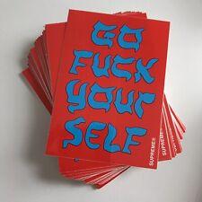 Supreme Go F#*K Yourself Sticker 100% AUTHENTIC SUPREME STICKER BOX LOGO