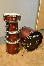 Noble & Cooley CD Maple 5 pc Drum Set Cherry Gloss Finish w Pearl Optimounts Etc
