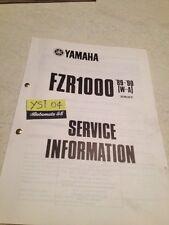 Yamaha FZR1000 89 / 90 W A FZR 1000 service information technique technical data