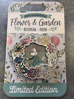 *NEW Disney Epcot Flower & Garden Festival 2020 Minnie Mouse Flower Wreath Pin