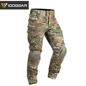 IDOGEAR G4 Tactical Pants W/ Knee Pads Combat Pants Camo Pants Paintball Hunting