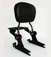 Adjustable Detachable Backrest Sissy Bar W/ Luggage Rack for Harley Softail