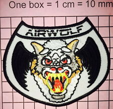 AIRWOLF HELICOPTER PILOT EMBROIDERED Iron on/Sew on  PATCH