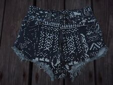 BDG Shorts Super High Rise Dolphin 24W Gray White Geometric Urban Outfitters
