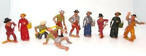 MARX 60 MM COWBOY FIGURES OF THE OLD WEST (10) - RARE
