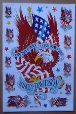 A4 HARLEY DAVIDSON STICKER DECAL EAGLE DESIGN RED AND BLACK