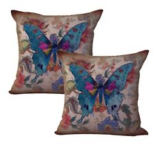 US Seller- 2pcs decorating ideas for living room vintage butterfly cushion cover