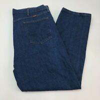 Rustler Denim Jeans Mens 42X30 Blue Straight Leg 100% Cotton Medium Wash Zip Fly