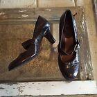 Womens aerosols a2 beauty sleep brown skin print Mary jane heels shoes size 9