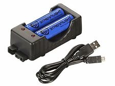 Streamlight Charging Cradle Kit with Micro USB and 2 18650 Batteries 22010