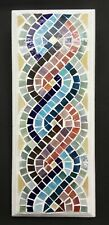 Glass Mosaic Wall Art Picture 28cm x 11cm Roman Style Multi Colour M017